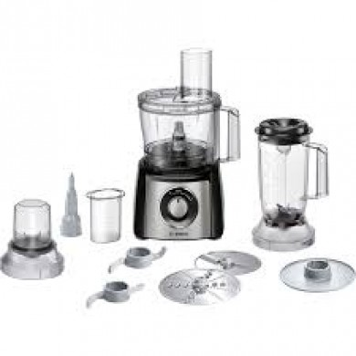 Bosch MCM3501M Kitchen machineMultiTalent 3 800 W Siyah, Brushed stainless steel