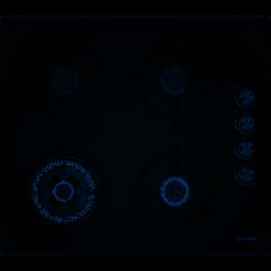 Bosch POH6C6B11O Serie | 2 Gazlı Ocak60 cm sert cam, siyah
